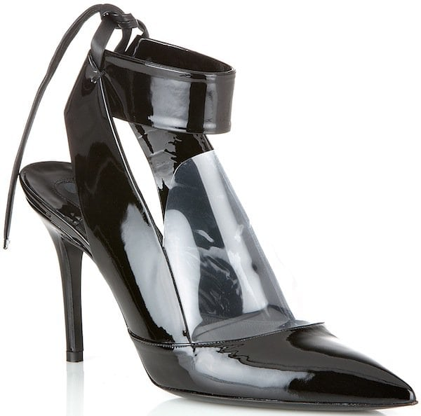 Salvatore Ferragamo Ankle Strap Pump with Transparent PVC Detail