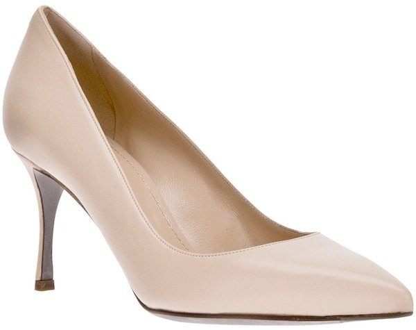 Sergio Rossi Nude Pointed Toe Pump