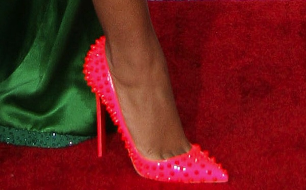 Solange Knowles wearing Christian Louboutin heels