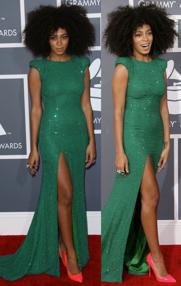 Solange Knowles at the 55th Annual Grammy Awards held at the Staples Center in Los Angeles, California, on February 10, 2013