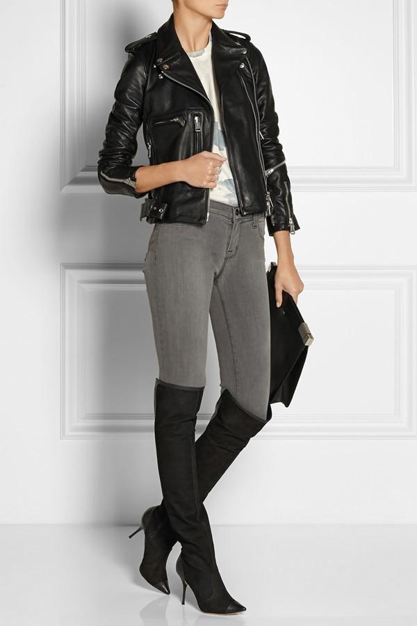 sophia webster hallie over-the-knee boots in black nubuck 5