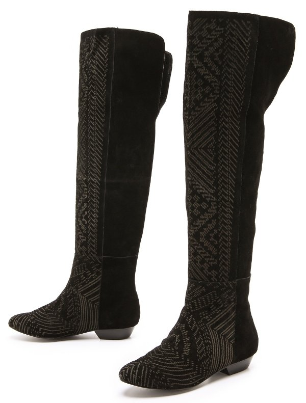 Twelfth St. by Cynthia Vincent - Daire Over the Knee Suede Boots