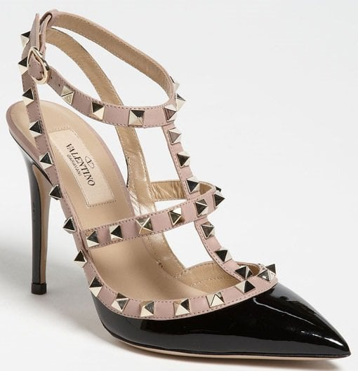 valentino rockstud pumps 4 inches two straps
