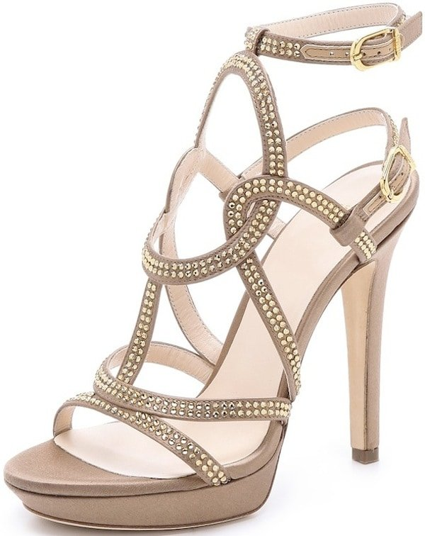 Versace Strappy Satin Sandals