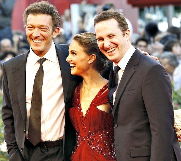 Natalie Portman joining co-star Vincent Cassel and director Darren Aronofsky on the red carpet at the premiere of Black Swan during the 67th Venice Film Festival held at the Sala Grande Palazzo Del Cinema in Venice, Italy, on September 1, 2010