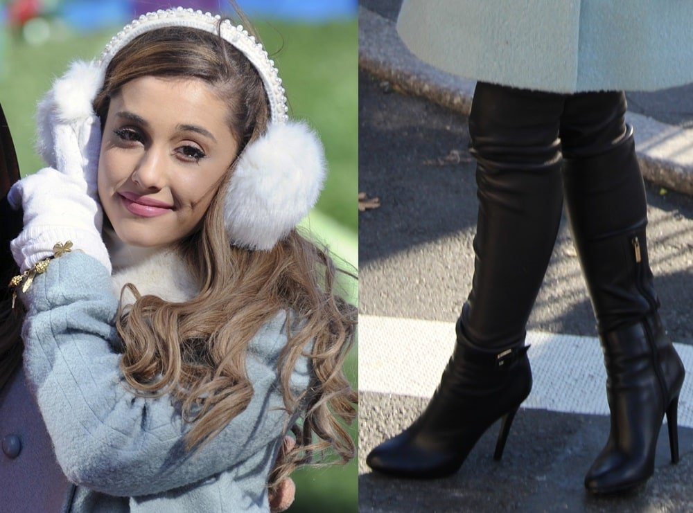 Stunning Ariana Grande In Jimmy Choo Boots During Macy S