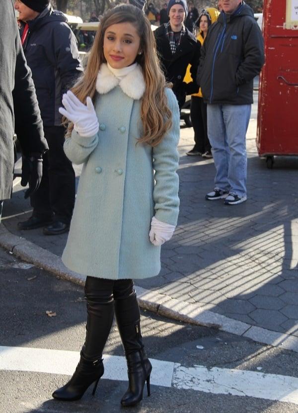 Ariana Grande In Jimmy Choo Tamba Over The Knee Boots
