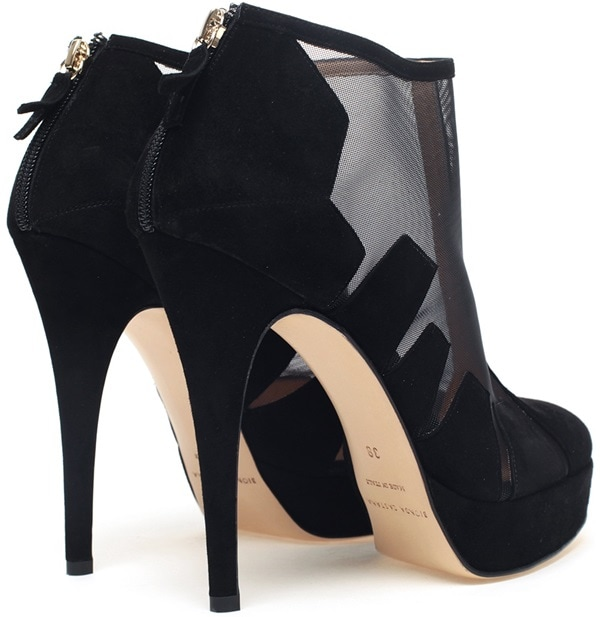 BIONDA CASTANA 'Belen' Cut-Out Suede and Mesh Shoe Boot