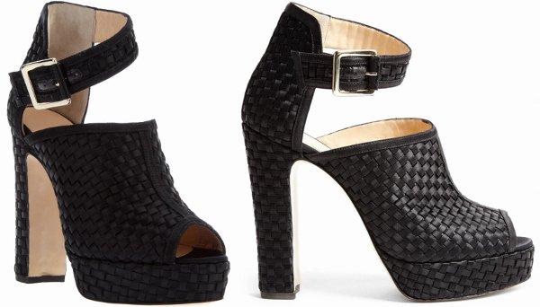 "Black Bionda Castana ""Christa"" Sandals"