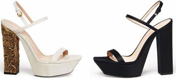 Calvin Klein Spring 2013 platform sandals