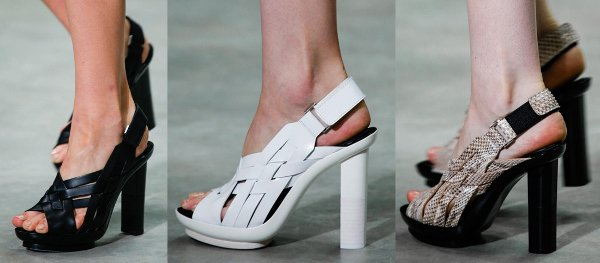 Woven leather sandals from Calvin Klein's spring 2014 collection