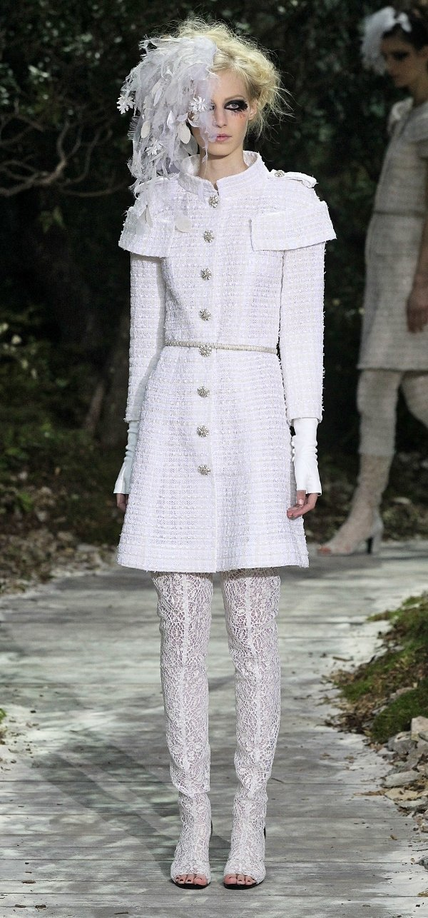 Alexa's outfit as seen at Chanel's Haute Couture Spring 2013 show during Paris Fashion Week
