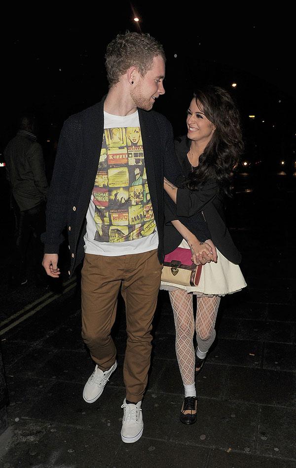Cher Lloyd and Craig Monk leaving Mahiki nightclub