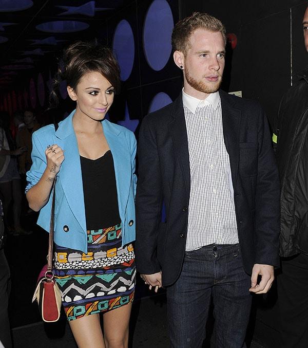 Cher Lloyd and Craig Monk leaving a club in Soho
