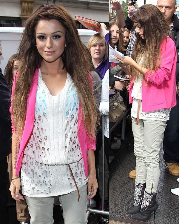 Cher Lloyd at BBC Radio1 Studios