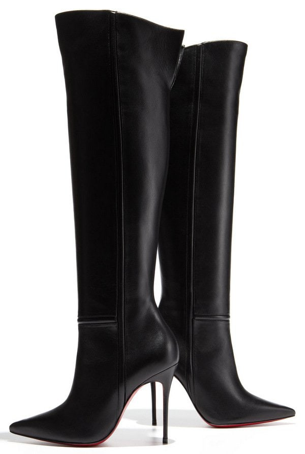Christian Louboutin Armurabotta Thigh-High Pointy Red Sole Boot