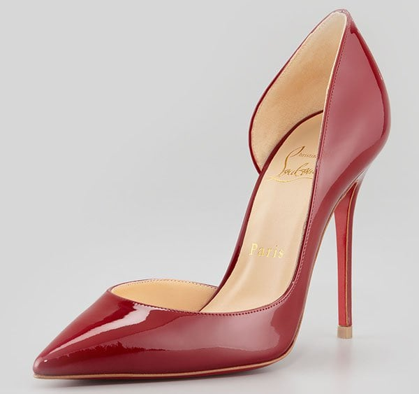 Christian Louboutin Iriza Leather d'Orsay Pumps Rouge