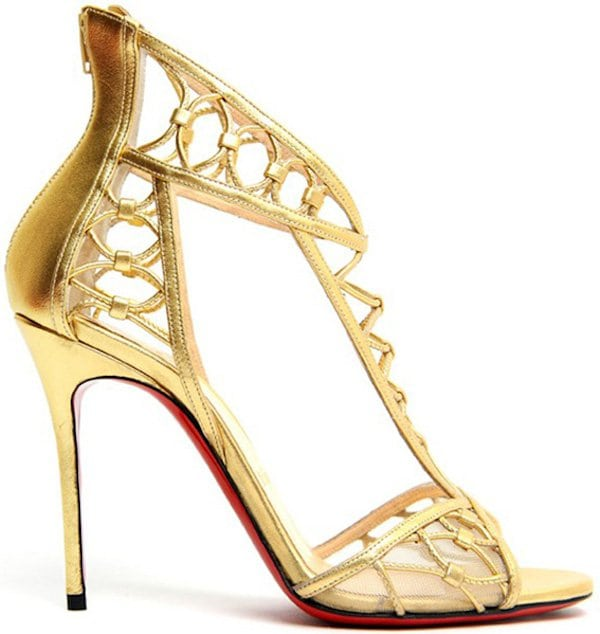 "Christian Louboutin ""Martha"" Sandals in Gold"
