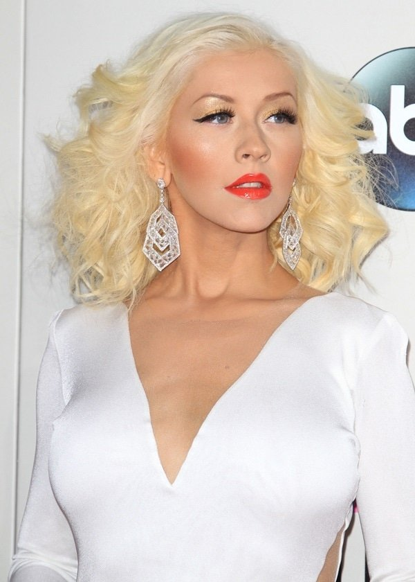 Christina Aguilera at the 2013 American Music Awards held at Nokia Theatre in Los Angeles on November 24, 2013