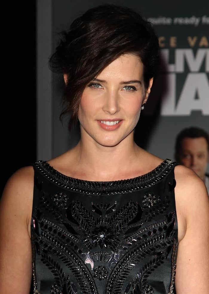 Cobie Smulders' gorgeous dress features an intricate embellished pattern