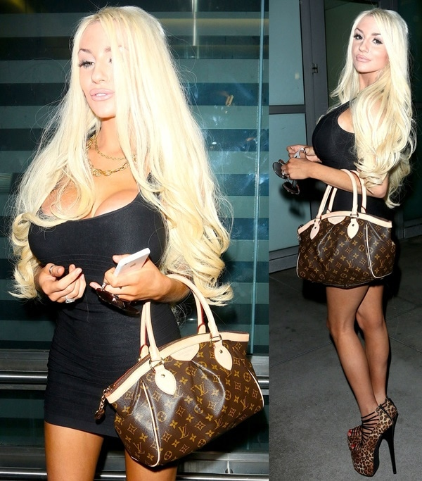 Courtney Stodden leaving the ArcLight Cinema in Hollywood, Los Angeles, on October 4, 2013