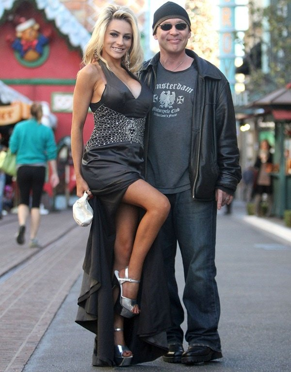 Doug Hutchison and Courtney Stodden during happier times at The Grove in Hollywood, Los Angeles, on December 6, 2011