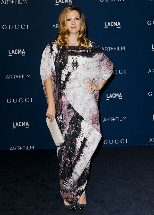 Drew Barrymore at the LACMA 2013 Art + Film Gala honoring Martin Scorsese and David Hockney and presented by Gucci