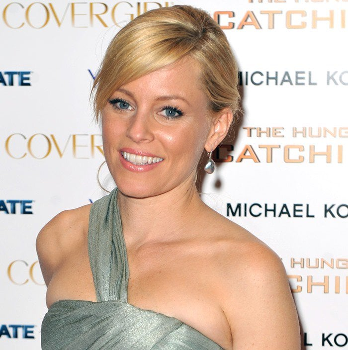 "Elizabeth Banks with a chic updo hairstyle at ""The Hunger Games: Catching Fire"" premiere after-party"