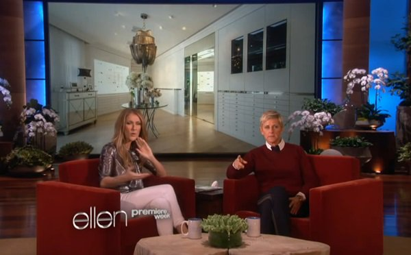 Celine Dion on The Ellen DeGeneres Show on September 10, 2013