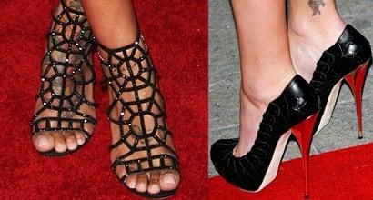 Hot feet in high heels