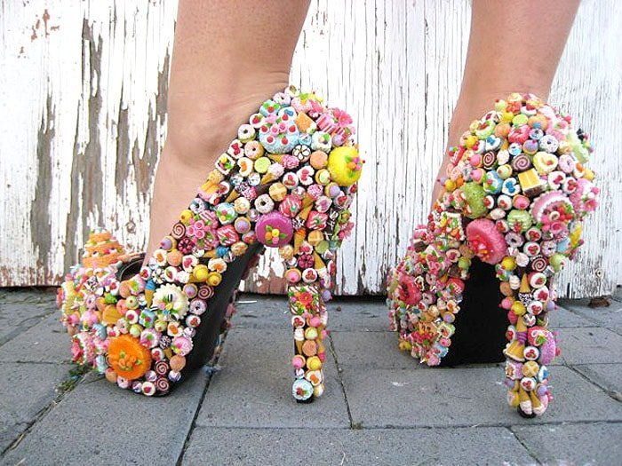 Pumps Embellished With Every Confectionery Known to Man