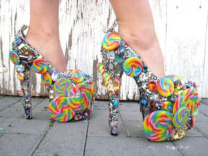 Gasoline Glamour Candyland Pumps