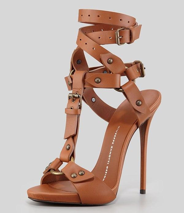 Giuseppe Zanotti Ankle-Wrap T-Strap Sandals