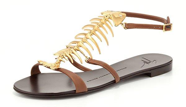 Giuseppe Zanotti Fishbone Flat Sandals