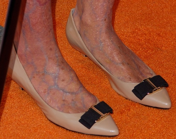 Heidi Klum Is Creepy Old For Halloween With Foot Spider Veins