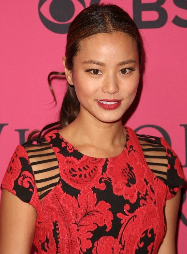 Jamie Chung at the 2013 Victoria's Secret Fashion Show at Lexington Avenue Armory in New York City on November 13, 2013
