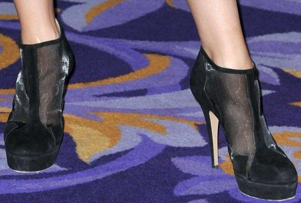 "Jena Malone'sBionda Castana ""Belen"" cut-out boots"