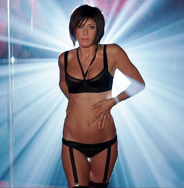 Jennifer Aniston as a stripper in a leaked photo fromWe're the Millers