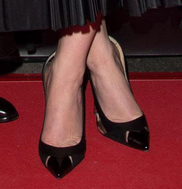 "Jennifer Lawrence wearing Christian Louboutin ""Air Chance"" pumps"