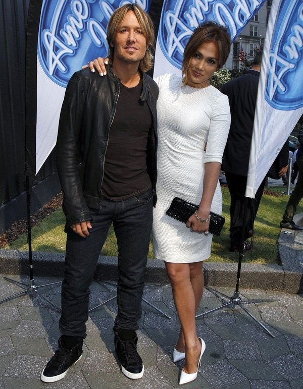Jennifer Lopez and Keith Urban at the 'American Idol' season 13 auditions