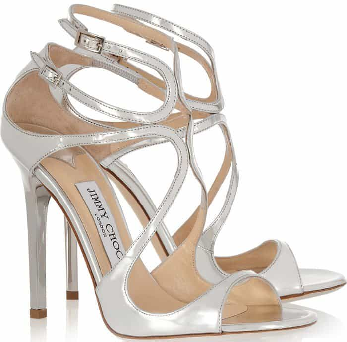 Jimmy Choo Lance Wavy Strap Sandals