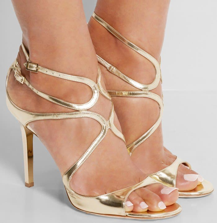 jimmy-choo-lance-metallic-leather-sandals-gold
