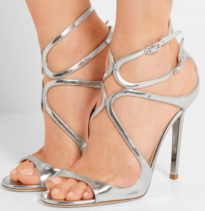 jimmy-choo-lance-metallic-leather-sandals