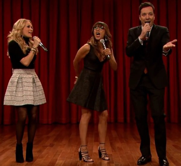 Jimmy Fallon Rashida Jones Carrie Underwood