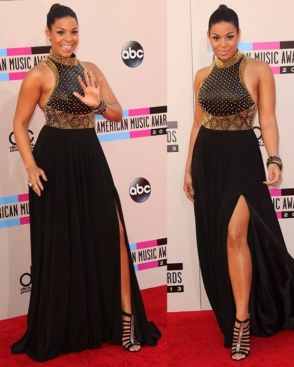 Jordin Sparks wearing Jovani Couture gown at the 2013 American Music Awards