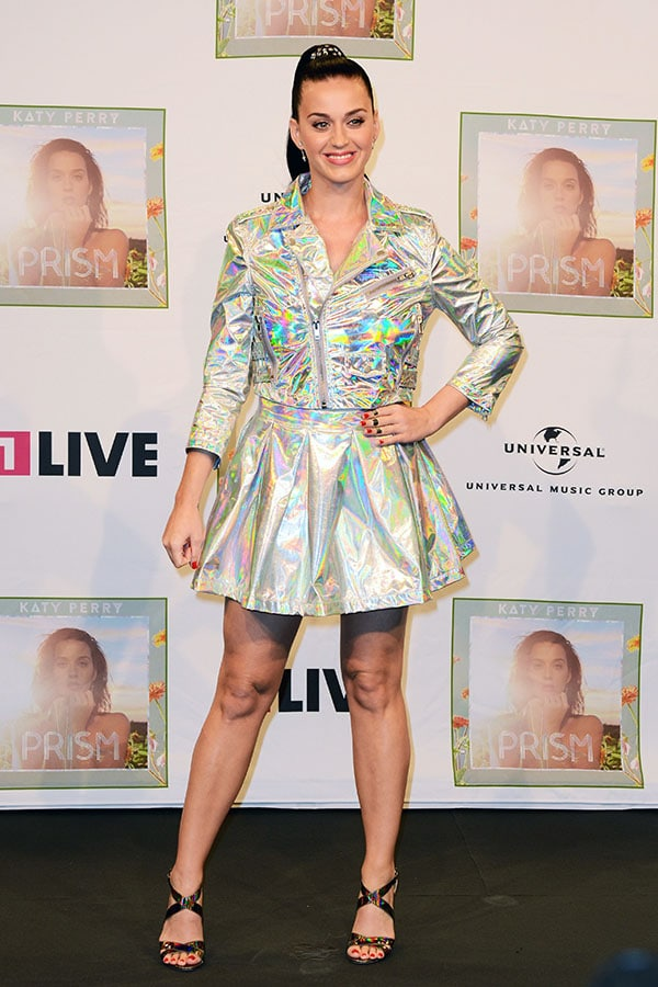 "Katy Perry was reflecting her new album, ""Prism"", when we spotted her arriving at 1Live radio station in Cologne"
