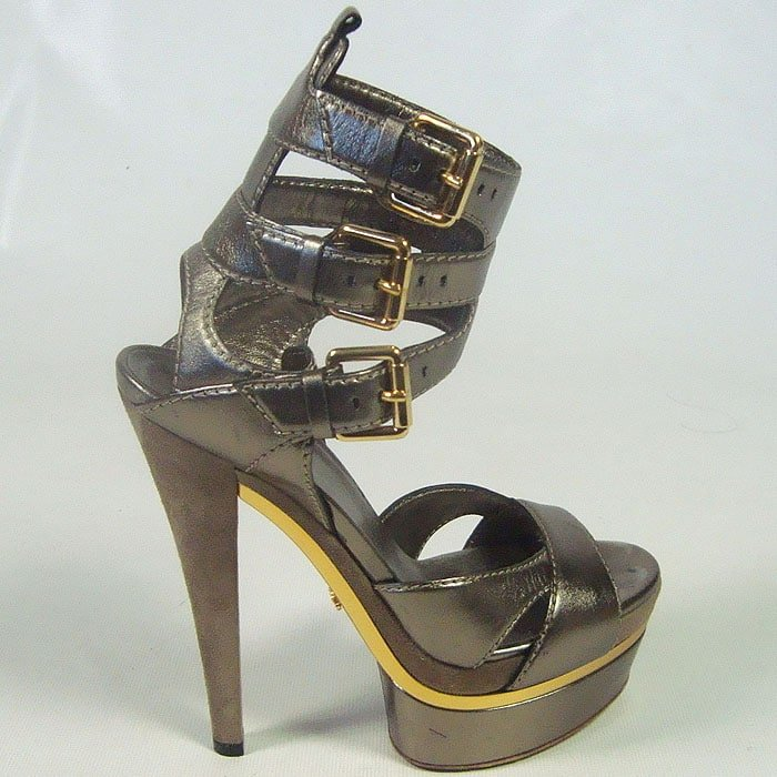 Gucci stripper platform sandals from Kim's early days