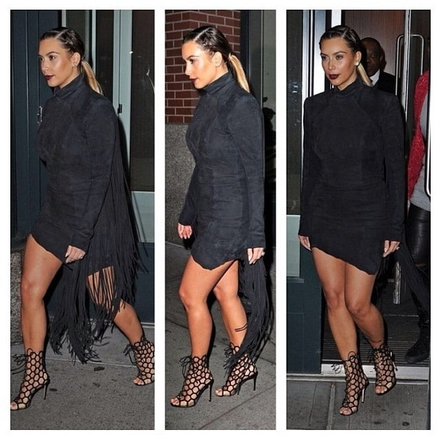 Shared by Kim Kardashian with the caption 'Loved this look #DateNight'