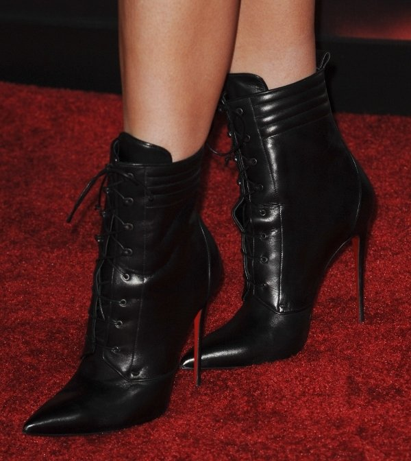 Kylie Jenner's lace-up ankle boots by Christian Louboutin