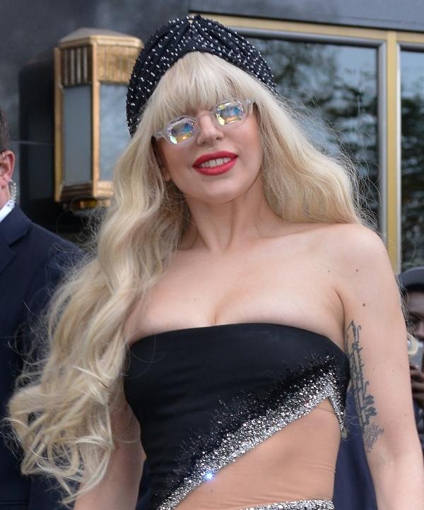 Lady Gaga's vintage look in New York on November 15, 2013